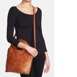 Patricia Nash Leather Moretto Tooled Crossbody Bag
